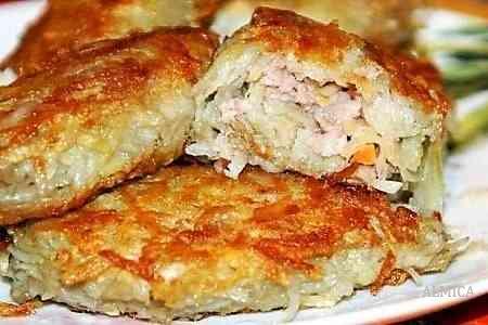 приготовить картофельные колдуны с мясом