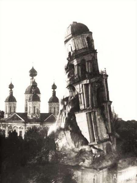 разрушение колокольни