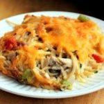 запеканка из спагетти и куриного филе