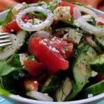 вкусный летний салат с брынзой