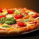 быстрая творожная пицца с помидорами черри