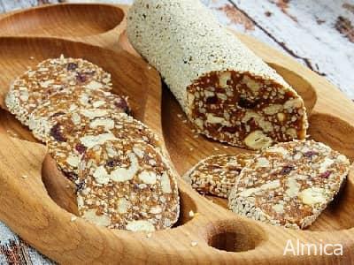 десертные колбаски из сухофруктов