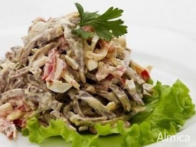 мясной пражский салат