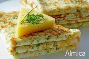 блинчики с сыром и укропом