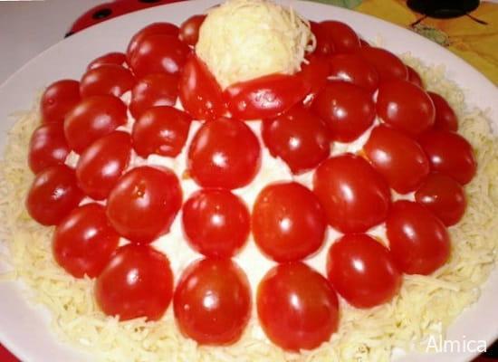слоеный салат красная шапочка