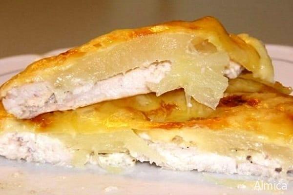запеченная курица с ананасами